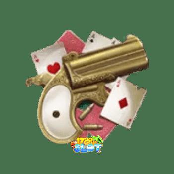 สัญลักษณ์พิเศษ ปืนทองและไพ่
